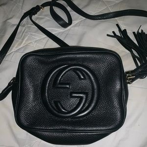 Authentic Gucci soho small leather bag